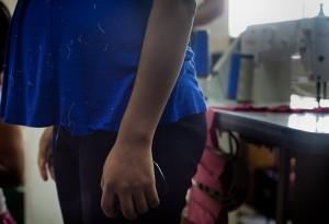 Femme enceinte sauvée par la fiscalisation du secteur textile Photo: Anali Dupré