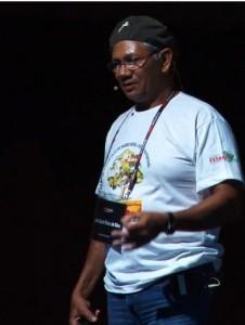 Zé Cláudio Ribeiro dá palestra no TEDxAmazônia, em novembro de 2010, antes de ser assassinado. Foto: Reprodução/TEDxAmazônia
