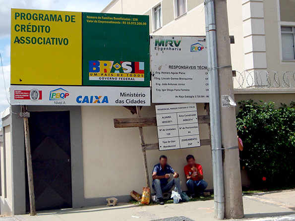 Fachada da obra onde fiscalização constatou condições de trabalho degradantes (Fotos: MTE / Divulgação)