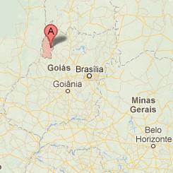 O município, na região noroeste do estado, a cerca de 370km de Goiânia (GO) (Imagem: Reprodução)