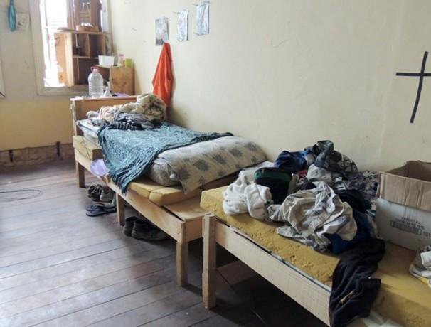 Dormitório de residência onde o contingente de libertados estava alojado