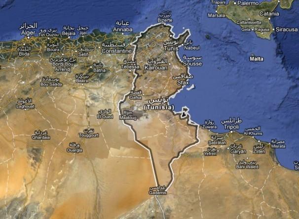 Tunísia. Reprodução/GoogleMaps