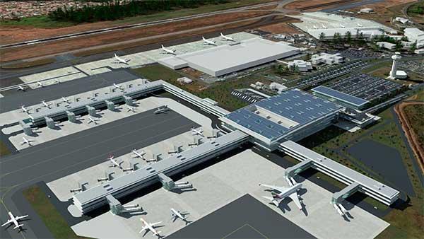 Croqui do Aeroporto Internacional de Viracopos após obras de ampliação