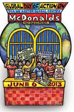 Em protesto global, organizações denunciam violações trabalhistas do McDonald´s