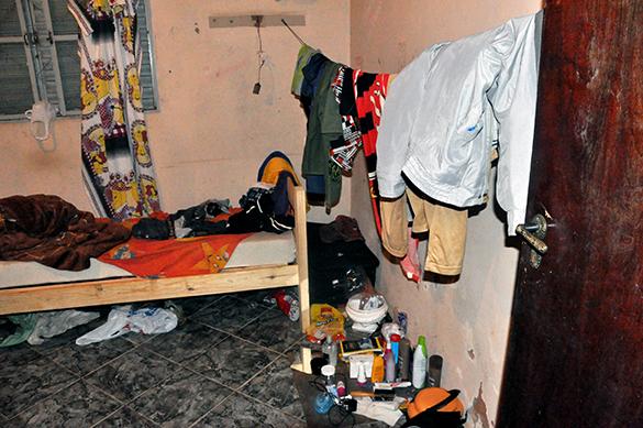 Interior do alojamento onde residiam os trabalhadores resgatados (Fotos: PRT-15)
