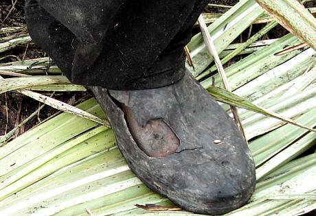 Homem libertado de trabalho escravo, em 2009, no RJ