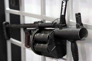 Arma exibida na LAAD