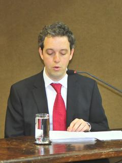 Livinston Bauermeister, diretor da Restoque, fala em audiência na Alesp Foto: Ass Imprensa do dep Carlos Bezerra