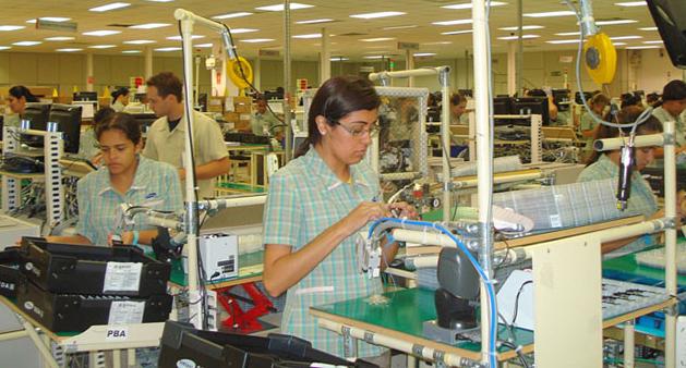 Linha de produção da Samsung, em Campinas, durante diligência do MPT em 2009. Foto: Divulgação/MPT