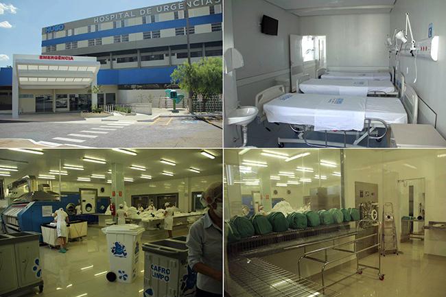 Interior em reformas de uma das unidades de saúde de Goiás (Foto: Secretaria da Saúde do Estado de Goiás / Divulgação)