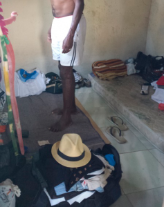 Alojamento onde trabalhadores de outros Estados ficavam estava em condições degradantes; na foto, colchão improvisado de papelão