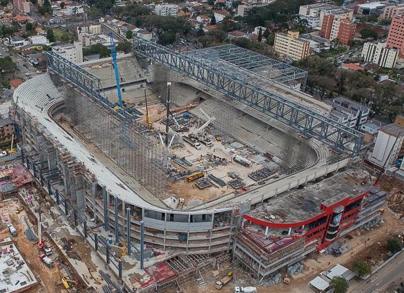 Visão aerea do estádio. Foto: Lucas Costas, Difusão da CAP