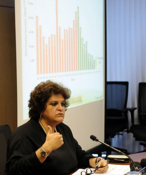 Ministra do Meio Ambiente Izabella Teixeira anuncia que desmatamento voltou a subir no Brasil. Foto: Divulgação/MMA