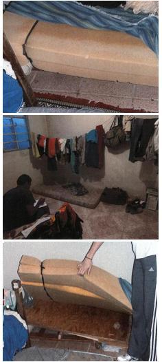 Trabalhadores resgatados em Curitiba dormiam no chão. Fotos: Divulgação/MTE