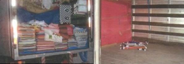 Fundo falso do caminhão, onde trabalhadores escravizados no Rio de Janeiro viajavam por até três dias (Fotos: MTE)