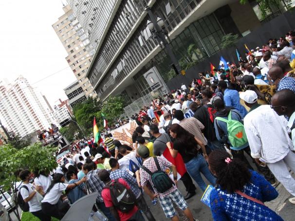 Por uma nova lei migratória foi a reivindicação do movimento que manifestou-se em São Paulo