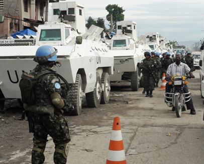 Soldados brasileiros no Haiti. Foto: Divulgação/Exército Brasileiro