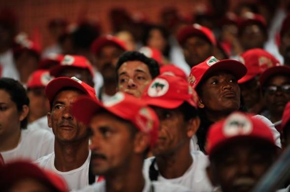 Integrantes do MST em Brasília. Foto: Marcelo Camargo/Agência Brasil