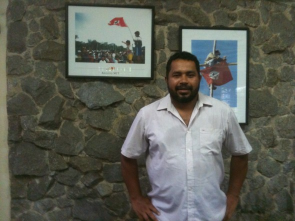 João Paulo Rodrigues, da coordenação do MST, na sede da Secretaria Nacional do movimento, em São Paulo. Foto: Daniel Santini