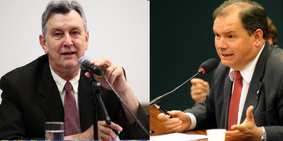 Heinze e Alceu Moreira, deputados que sofreram representação por racismo Fotos: Antonio Augusto e Lucio Bernardo Jr. / Câmara dos Deputados