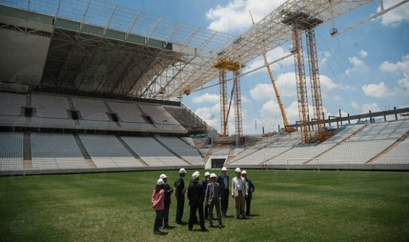 Inspeção realizada em janeiro no estádio. Foto: Marcelo Camargo/Agência Brasil