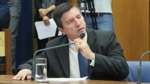 Deputado Marco Aurélio durante a CPI do Trabalho Escravo. Foto: Divulgação