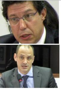 Jesus Echevarria, diretor da Inditex, e Enrique González, da Zara Brasil, estiveram no Congresso Nacional em 2011. Foto: Maurício Hashizume