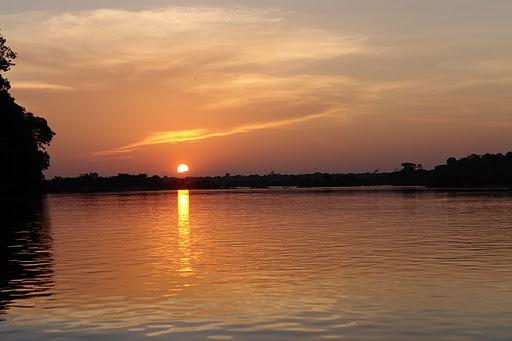 Pôr do sol no Rio Xingu. Foto: Verena Glass