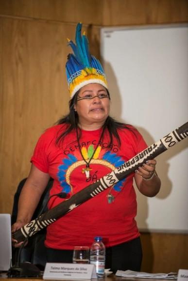 A secretária do Movimento de Mulheres Indígenas do Conselho Indígena de Roraima (CIR), Telma Marques, do Povo Taurepang. Foto: Miguel Mesquita