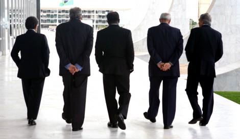 Ministros do STF durante intervalo da sessão.Foto:Nelson Jr./SCO/STF
