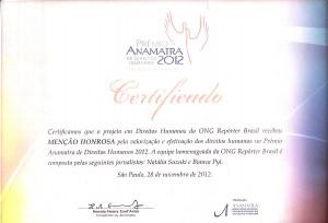 Prêmio 2012 Anamatra