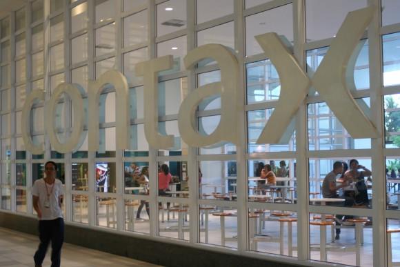 Logo da Contax em uma das sedes