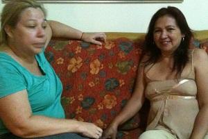 Fátima Rallo, do Conselho de Organizações Populares e Sociais do Paraguai, e Gladys Cabrera, da Associação Paraguaia de Apoio aos Migrantes