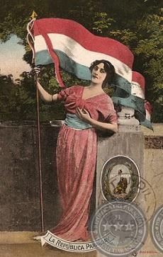 Cartão Postal paraguaio, 1916, disponível para consulta no Portal Guaraní