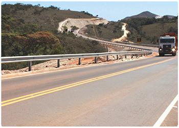 Estrada particular da Vale em Itabirito, onde foi constatado trabalho escravo (Foto: Divulgação)