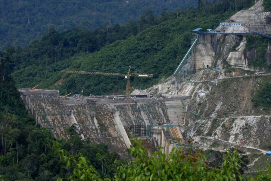 Hidrelétrica de Murum, na Malásia. Foto: International Rivers