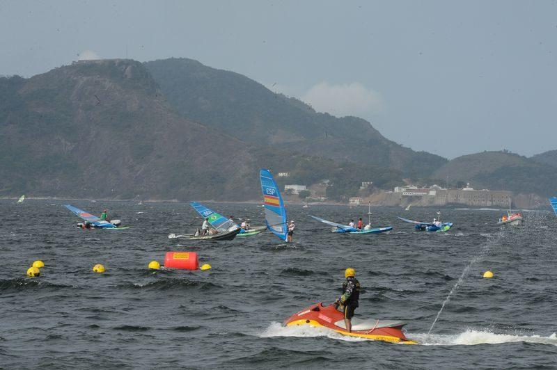 Competição de vela no primeiro dia das olimpíadas do Rio de Janeiro. Foto: Tomaz Silva/Agência Brasil