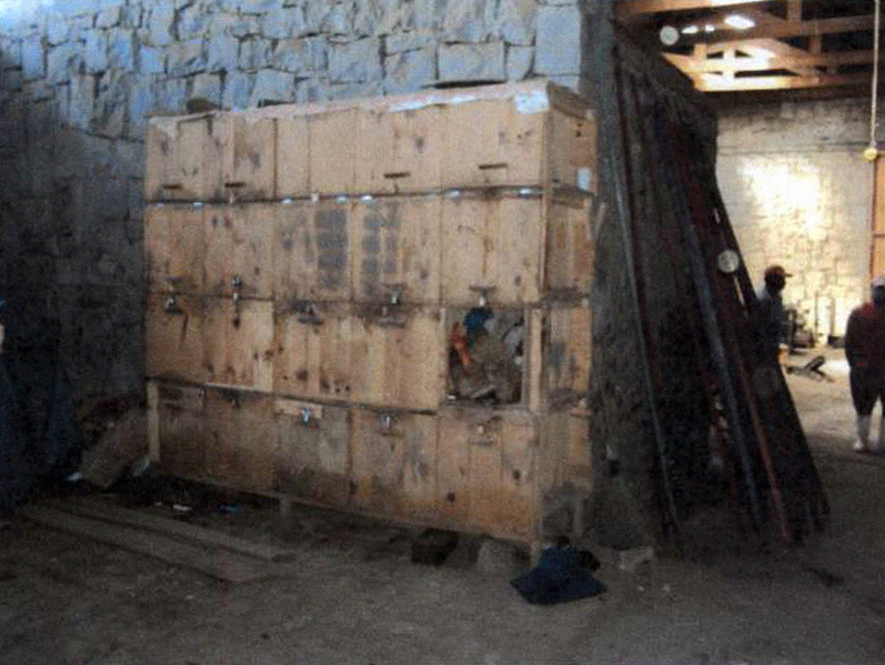 Armários onde trabalhadores deveriam guardar seus pertences. Foto: SRTE/SC